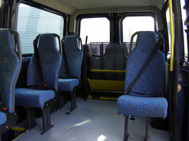 Rear seating area with the hoist stowed