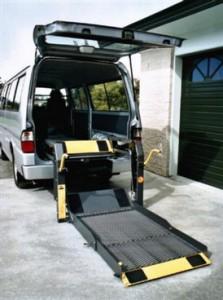 Wheelchair access to van