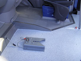 Ezlock fitted to the front passenger floor
